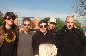 Au centre Alexandre Gabriac, avec les gentlemen fascistes du Gud